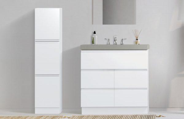 6054783 Geneva white linen cabinet