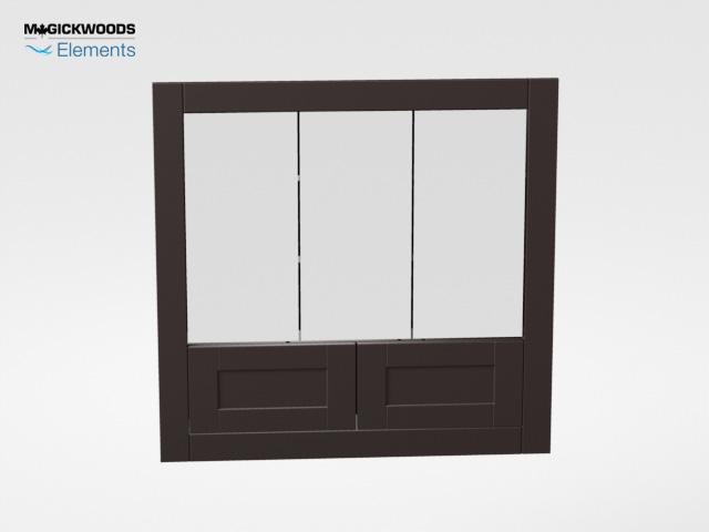 36u2033W Brighton Dark Chocolate Tri View Medicine Cabinet U2013 Magick Woods  Elements